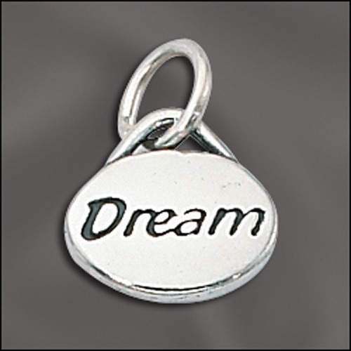 Sterling Silver Message Charm - Dream