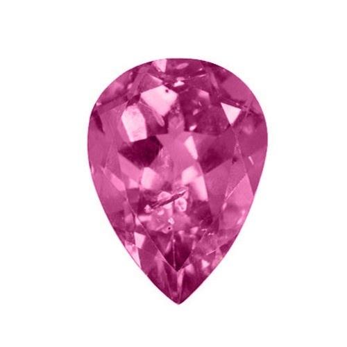 Pear Shape Synthetic Rose Zircon