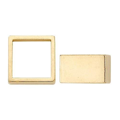 14K Yellow High Square Straight Bezel W/ Seat