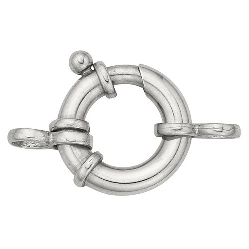 Sterling Silver Heavy Spring Ring W/ 2-Rings