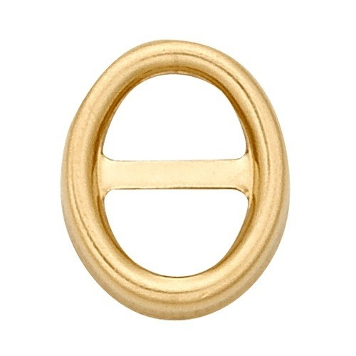 14K Yellow Oval Bezel W/ T-Bar Non-Faceted
