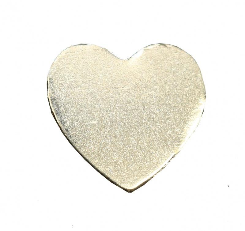 14k Yellow Heart Shape Blank Disk, 3.75 X 3.75 Mm