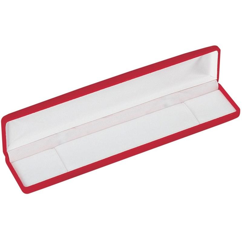 """""""velour Value"""" Medium Bracelet Box In Red Velvet"""