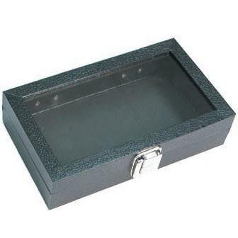 "Black Wood Utility Cases W/Snap Closure, 14.75"" L X 8.25"" w"