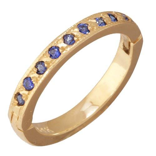 14K Yellow Gold Blue Sapphire Toe Ring