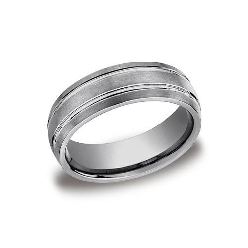 Tungsten Wedding Band 7 Mm Wide