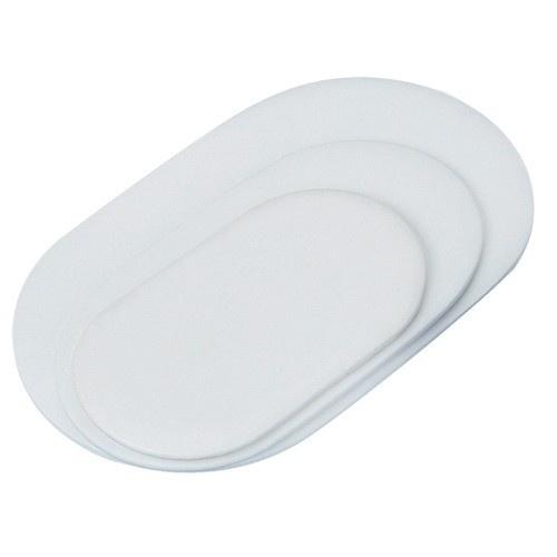 "Oval Display Pads In Pearl, 7"" L X 11"" w"