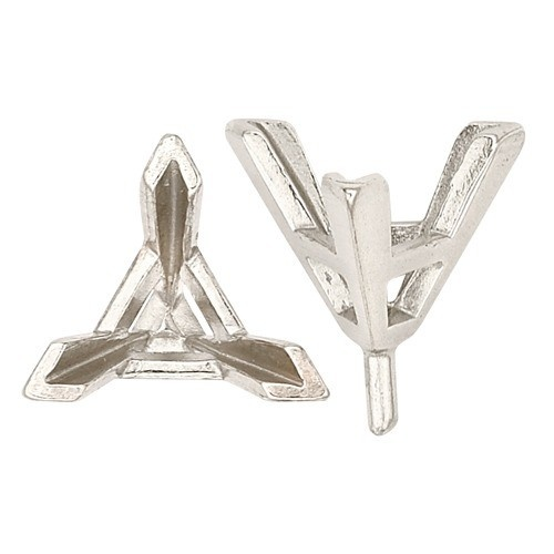 14K White Triangle Setting With Peg