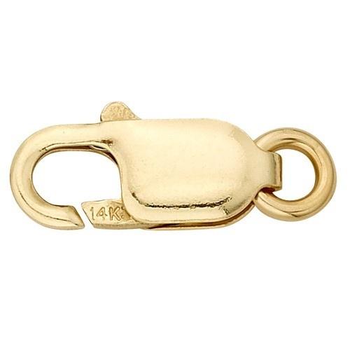 14K Yellow Gold Lobster Lock