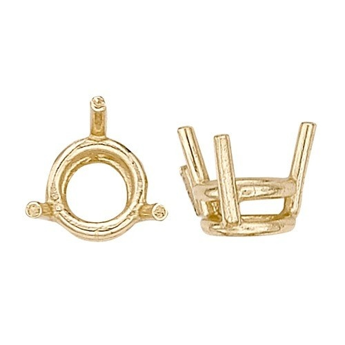 14K Yellow 3-Prong Double Wire Round Setting