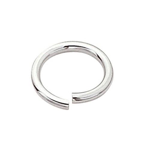 14K White Open Jump Ring