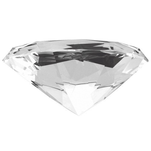"""Diamond-Shaped Clear Glass Crystals, 3.94"""" w"""