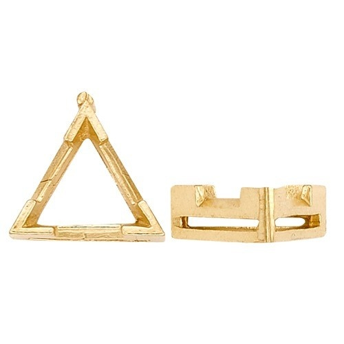 14K Yellow V-End Triangle Setting W/ Airline
