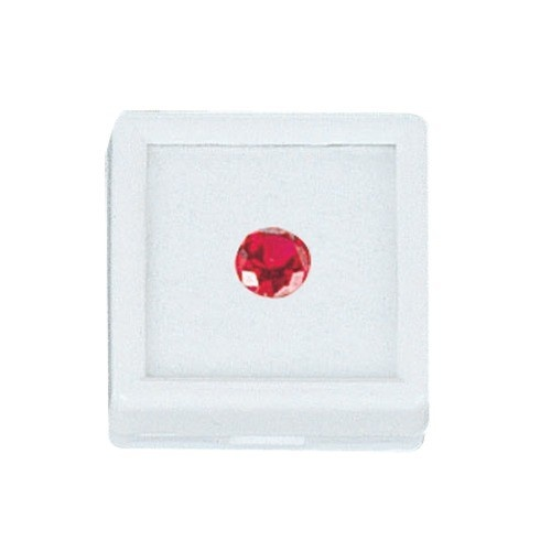 Glass-Top Square Gem Boxes W/Cotton Inserts