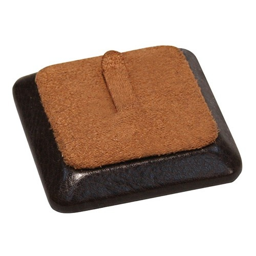 """Single-Clip Square Ring Displays In Cocoa & Umber, 2.25"""" L X 2.25"""" w"""