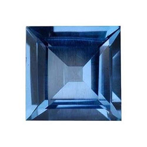 Square Synthetic Blue Zircon