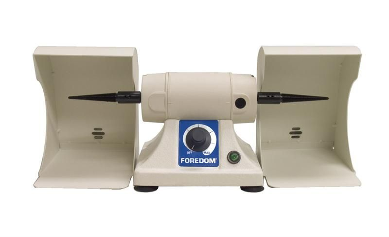 Foredom Bench Lathe Kit With Two Dust Collector Hoods & Tapered Spindles
