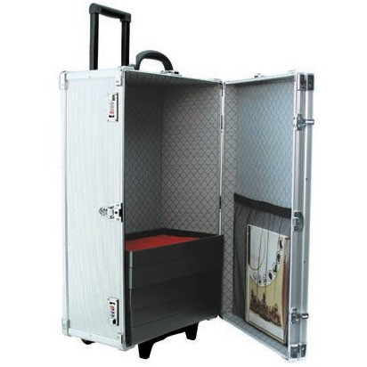 """Aluminum Rolling Cases (Holds 24 1"""" H Standard Trays), 16.38"""" L X 10.5"""" w"""