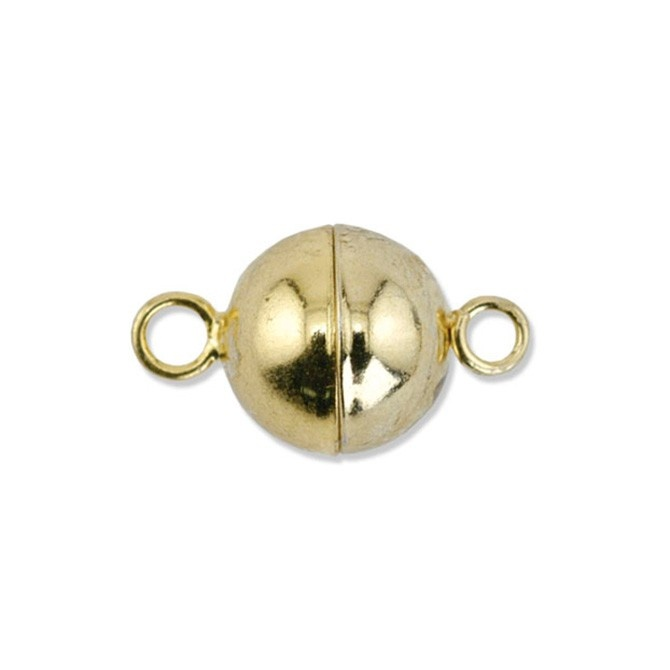Magnetic Clasps - Round Gold Plated 6Pc