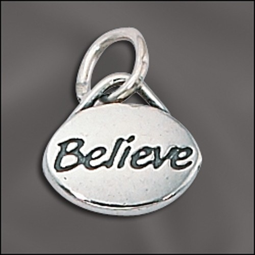 Sterling Silver Message Charm - Believe