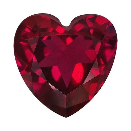 Heart Shape Synthetic Garnet