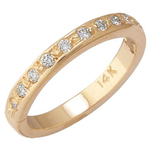 14K Yellow Gold Eternity Diamond Toe Ring