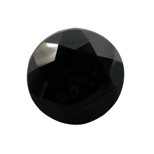 Round Faceted Onyx