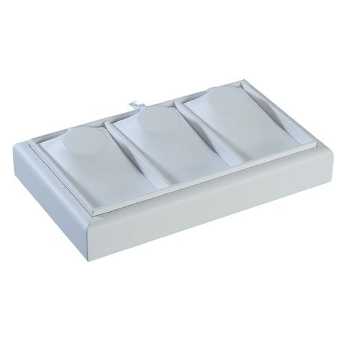 """3-compartment Neck Form Trays In Pearl, 9"""" L X 5.5"""" W"""