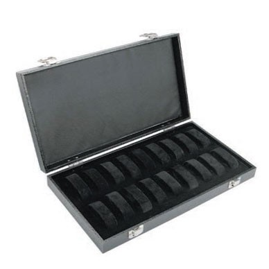 """Diplomat """"Economy"""" 18-Collar Watch Cases In Black Leatherette"""