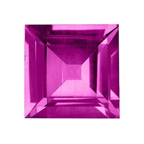 Square Synthetic Rose Zircon