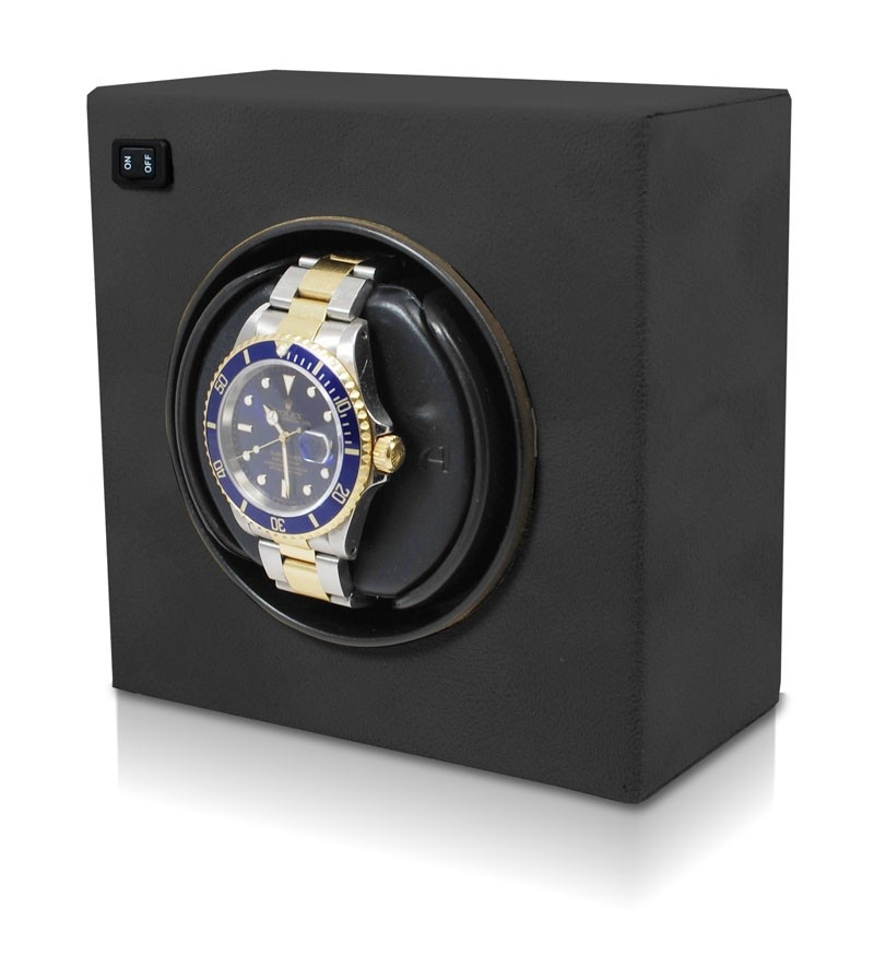 Orbita Casetta Self-Programming Watch Winder Module In Black Suede