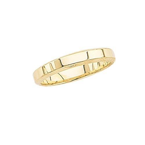 14K Yellow Gold Wedding Band W/ Beveled Edges 4 Mm