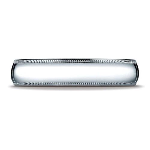 Platinum Milgrain Comfort Fit Band 5 Mm