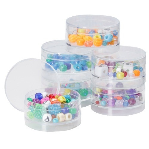 """Stackable Boxes- 2.25"""" Round Pack-of-6pcs"""