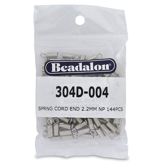 Spring Cord End -Nickel Plated 144Pc
