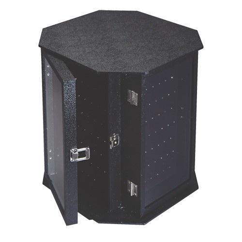 """4-Sided Rotating Black Body Jewelry Display, 14.5"""" W X 16"""" h"""