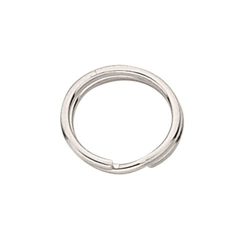 7.45Mm Split Ring, Sterling Silver