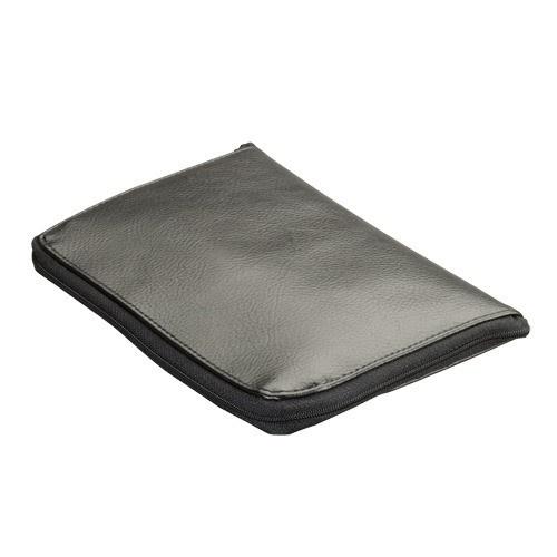 Travel Folder In Black Leather, 8.25 X 5.5 In