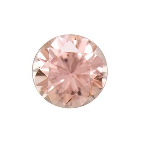 Synthetic Round Rose Zircon