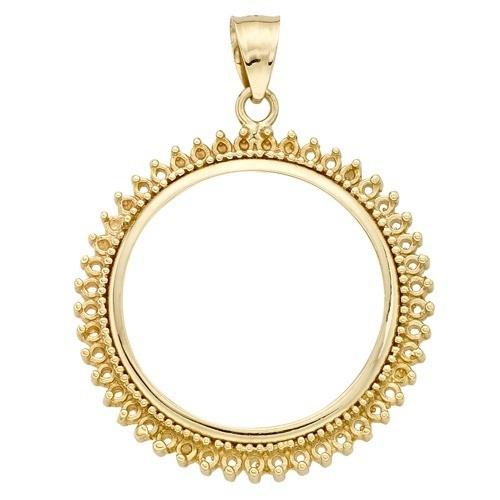 14K Yellow Coin Bezel W/ Diamond Setting