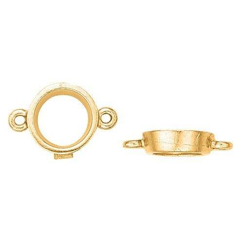 Yellow Round Tapered Bezel W/ 2 Ring