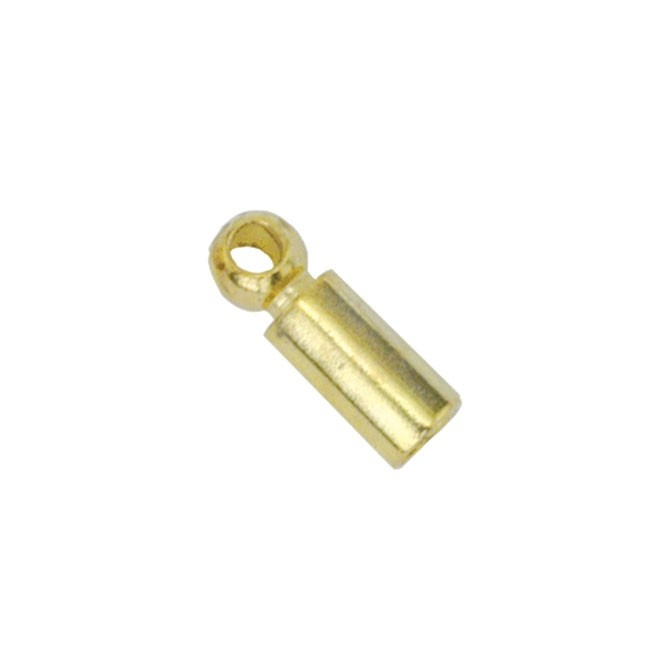 Heavy Tube Cord End - Gold Plated 5Pc