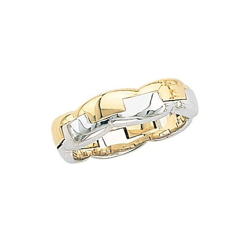 14K Yellow Gold Wedding Band W/ Design 6.5 Mm