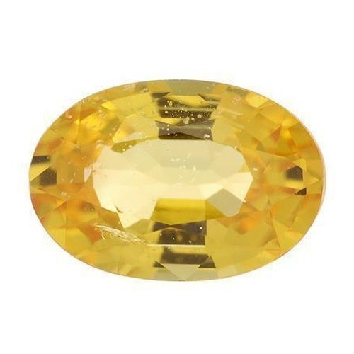 Oval Synthetic Yellow Topaz