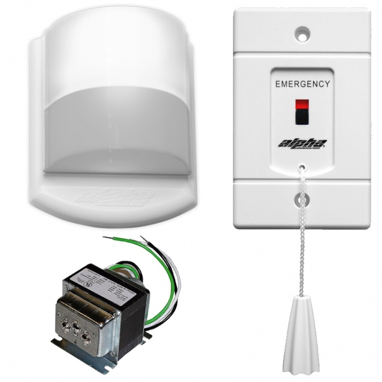 Emergency Call Kit---no Buzzer. Includes 1- Sf119/2a 1- Ss104 And 1- Cdl101led Dome Light (without A Buzzer)-(less Wire).