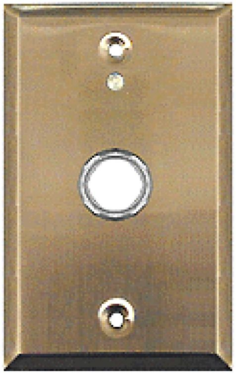 1 Gang St Steel Flushcall Unit. Includes 16vac Call-up Buzzer And Momentary Door Release Pushbutton (low-voltage).