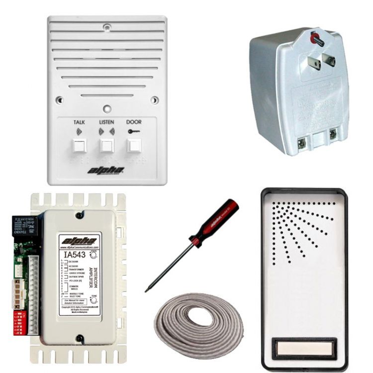 1-unit Entry Intercom Kit+wire. Contains: 1- Is204a+ 1- Ia543 1- Es01s Panel + 1- Ss105b 1- S1 And 200' 2prj (coiled).