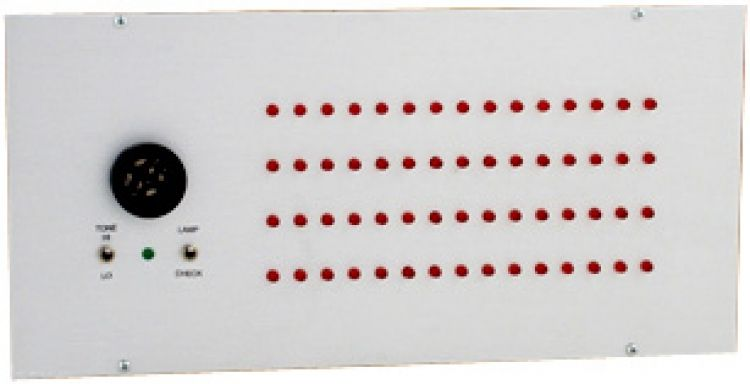 60 Zone Visual Annunciator--Ul. Requires Bb-02 Flush Back Box 15 Led's In Four Horizontal Rows-Single Status