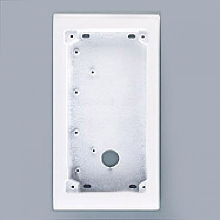 2h X 1w Surface Back Box-white. Requires Mt2w Series Frame.