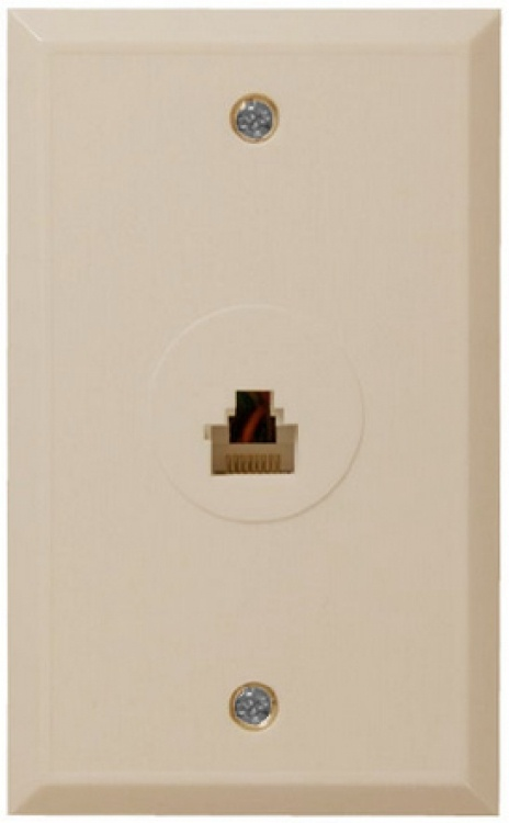 Jack-modular-6 Pin-flush Plate. .